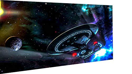 MagicCanvasArt Filme Serien Star Trek Bilder 1 Teilig Leinwandbild Nr 3024 versch. Größen - hochwertiger Kunstdruck XXL Bild Wandbilder Wohnung Wohnzimmer - Made in Germany (120 x 80 cm)