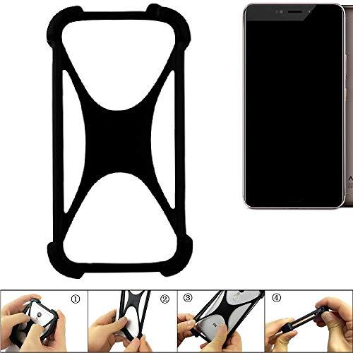 K-S-Trade® Handyhülle Für Allview X4 Xtreme Schutz Hülle Silikon Bumper Cover Case Silikoncase TPU Softcase Schutzhülle Smartphone Stoßschutz, Schwarz (1x),