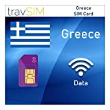 travSIM Three UK Data SIM Card for Greece with 3 GB 3G 4G LTE Mobile Data Valid for 60 Days - (UK Three) SIM Card for Greece - Free Roaming in European Countries