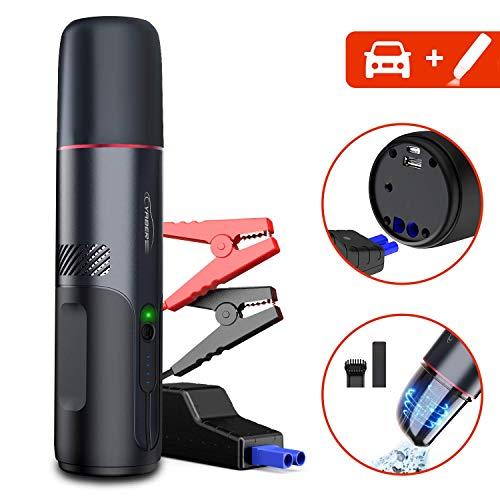 YABER Avviatore Batteria Auto 1200A 15000mAh con Aspirapolvere Portatile 5000PA Senza Fili, Avviatore di Emergenza Auto(per Motore a Benzina da 6,5 L o Diesel da 5,5L)