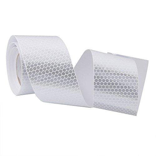Ndier Cinta adhesiva de vinilo de alta intensidad de color blanco, autoadhesiva, 5 cm x 3 m, producto deportivo