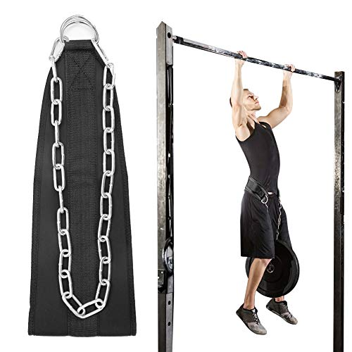 VAlinks Dip Belt with Chain for Pullups & Weightlifting, Ideal Weighted Belt for Pullups and Chin Up, Home Gym Equipment Waist Belt