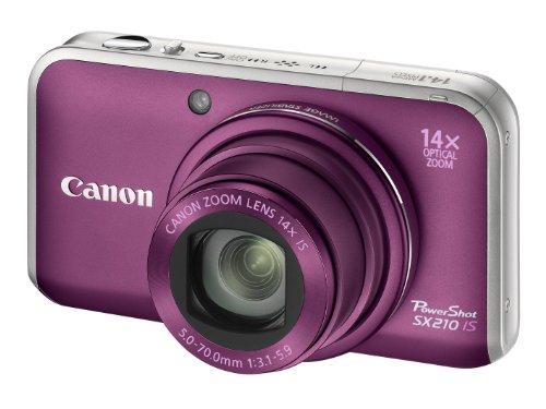 Canon PowerShot SX210 IS Digitalkamera (14 MP, 14-fach opt. Zoom, 7.6cm (3 Zoll) Display) violett