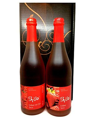 Secco Erdbeer und Erdbeer-Chili im Geschenkkarton