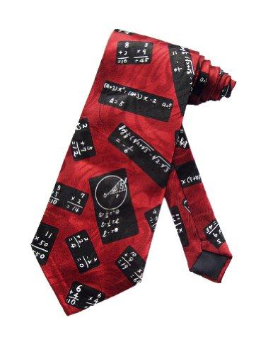 Steven Harris cravate équations mathématiques Rouge - taille unique