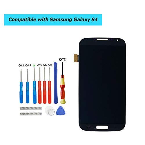E-YIIVIIL Super AMOLED HD Display compatible para Samsung Galaxy S4 Repuesto Pantalla LCD Touch Screen with Toolkit (negro sin marco)