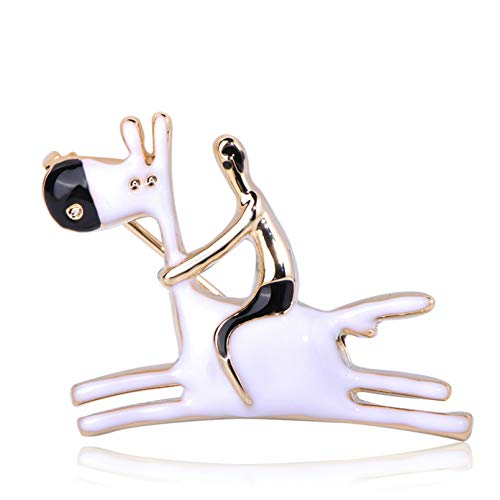BAJIE brooch Cute Men Donkey Shape Brooches Animal Horse Enamel Jewelry Kids Gifts Women Girls Clothes Scarf Hat Bag Pins Accessories