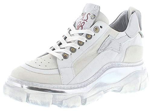 A.S.98 Damen Turschuhe 587104 Bianco Lederschuhe Low Sneaker Weiss 41 EU inkl. Schuhdeo