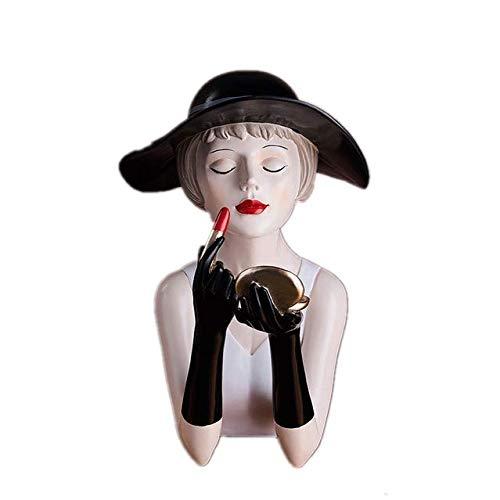 LYJ Moden Gorgeous Girl Resina Arte Estatua Regalo Figuras de Hadas Figuras...