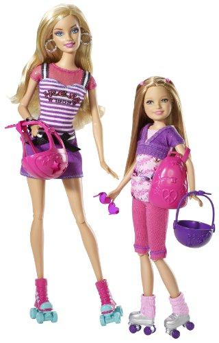 Barbie Sisters T7428 Barbie und Stacie Rollerskates Spaß