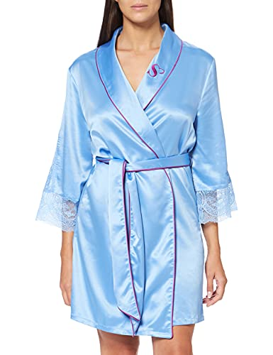 Sylvie Flirty Lingerie Damen Kimono Aza Blau, M