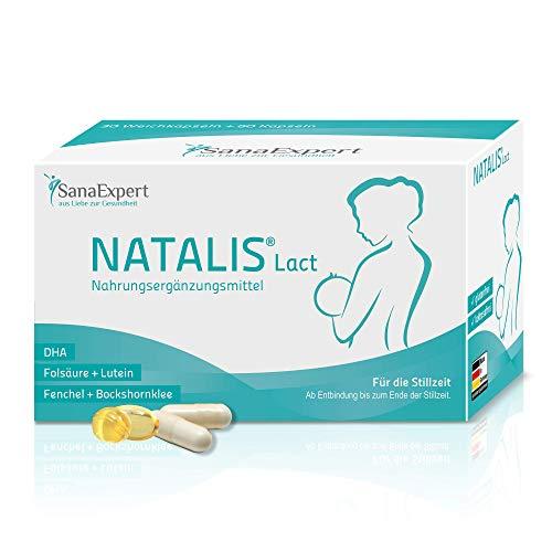 SanaExpert Natalis Lact, Vitamine für die Stillzeit mit DHA, Omega-3, Folsäure, Fenchel, Bockshornklee, 90 Kapseln (1)