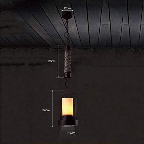 HYY-YY Hanglamp Wall-Mounted Retro Industry Chandelier Creative Kledingwinkel Bar Cafe decoratieve verlichting Kandelaar plafond licht, A (Color : A)