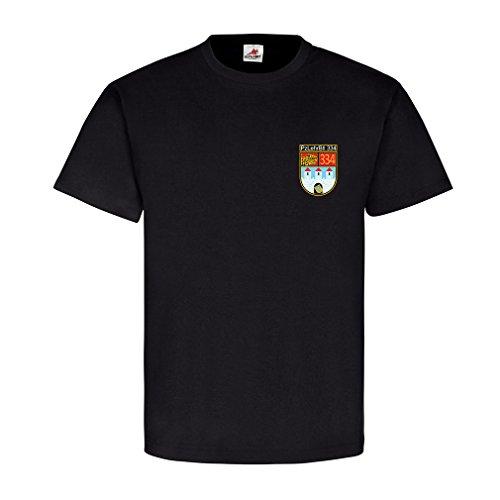 4. Kompanie PzLehrBtl 334 Celle Scheuen klagt nicht, kämpft! Leopard Barettabzeichen Wappen Abzeichen Emblem - T Shirt Herren XL #9101