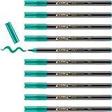 Edding 1340-04 - Caja de 10 rotuladores con punta de pincel, trazo variable, color verde