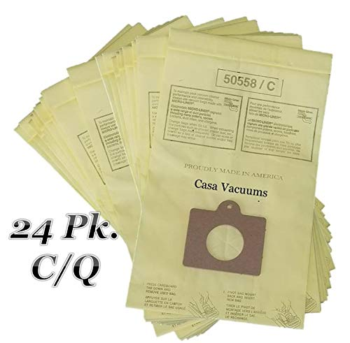 Casa Vacuums 24 Pk Replacement for Kenmore Style C & Style Q 5055 50557 50558 Micro Lined Canister Vacuum Bags. Also Fits Panasonic C-5, C-18