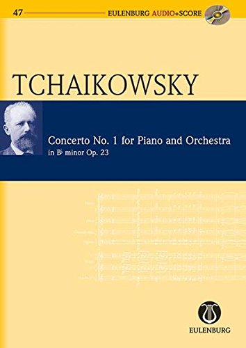 Konzert Nr. 1 b-Moll: op. 23. CW 53. Klavier und Orchester. Studienpartitur + CD. (Eulenburg Audio+Score, Band 47)
