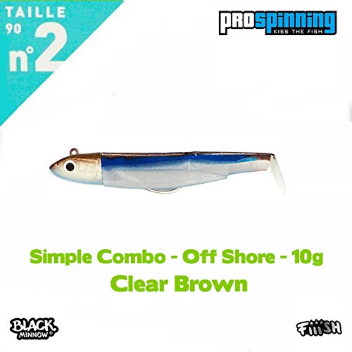 Black Minnow 90 Combos (Simple Combo - off Shore - 10g - Clear Brown)
