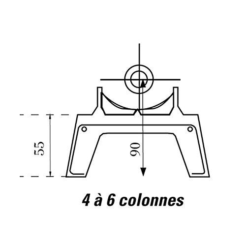 Pied amovible pour radiateurs DUNE et NCX 4 à 6 colonnes C13900320