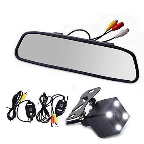 Boomboost - Lecteur vidéo sans Fil de stationnement de Lecteur vidéo sans Fil de récepteur de récepteur de caméra de Vue arrière de Voiture avec Le Moniteur de Miroir de 4.3\