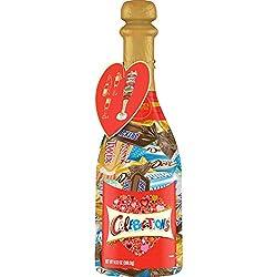 CELEBRATIONS Chocolate Valentine's Day Variety Mix Candy Bars, 9.52 Oz Champagne Bottle ( DOVE, TWIX
