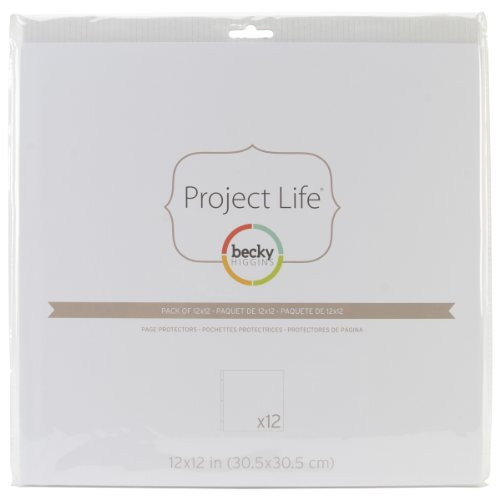 Becky Higgins 380017 Project Life Protector Page Protector-12 x (12 Pieces), Clear