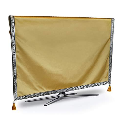 XKMY TV copertura di protezione TV antipolvere copertura di lusso puro resistente alle intemperie proteggere LCD LED plasma televisione tessuto runner tappeto (colore: giallo, specificazione: 82 cm)