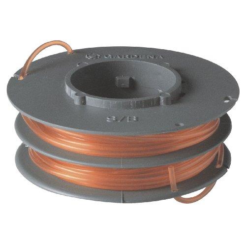Bobina de hilo de recambio GARDENA: carrete de hilo intercambiable para desbrozadoras turbo, guadañas eléctricas, desbrozadoras de césped (5372-20)