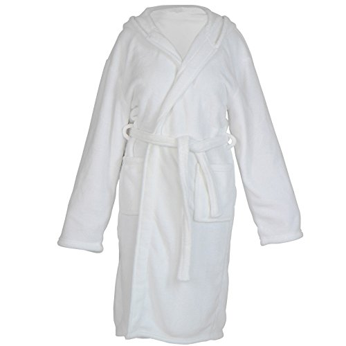 Jago Unisex Bathrobe - Colors (Sand, Slate, Navy, White) and Size (S-XXXL), Soft, Fluffy, with Hood, ideal for Swimming Pool and Sauna, for Ladies and Gentlemen - Dressing Gown, Sauna Robe