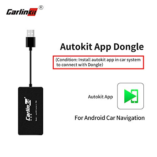 Carlinkit Wireless Carplay Dongle USB Adapter Only for Car with Android Head Unit Navigation Player, add Function Carplay/Android Auto/Mirror Screen/Support iOS13 Split Screen Bluetooth