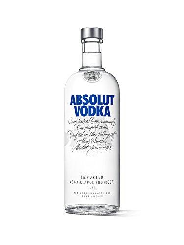 Absolut Vodka Original / Absolute Reinheit und einzigartiger Geschmack in ikonischer Apothekerflasche / Schwedischer Klassiker - ideal für Cocktails und Longdrinks / 1 x 1,5 L