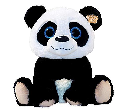 Panda Kuscheltier mit grossen glitzeraugen Plüschtier sitzend ca. 23 cm ,Plüsch