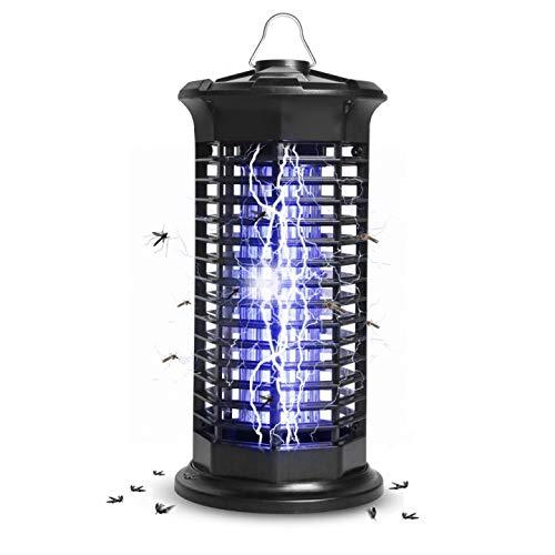 infinitoo Elektrischer Insektenvernichter, Insektenkiller Moskito Killer Upgrade 2020 Fliegenkiller gegen Mückenlampe Schutz vor Elektrischem Schlag Tragbare 1000V Grid für Schlafzimmer Gärten