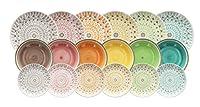 tognana ls17018m064 cape town servizio tavola 18 pezzi, ceramica, multicolore