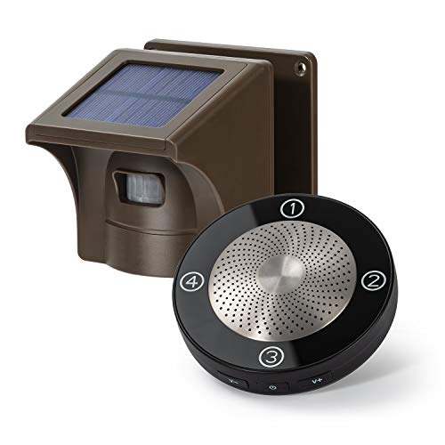 1/2 Mile Long Range Solar Wireless Driveway Alarm Outdoor Weather Resistant Motion Sensor &...