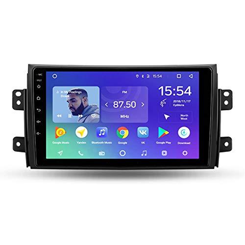 Yuahwyehe Autoestereo Pantalla Táctil Capacitiva Autorradio para Suzuki SX4 para Fiat Sedici 2006~2014 GPS Navegación Cámara De Respaldo Estéreo De Coche Audio FM/Am/RDS Radio Video Player SWC