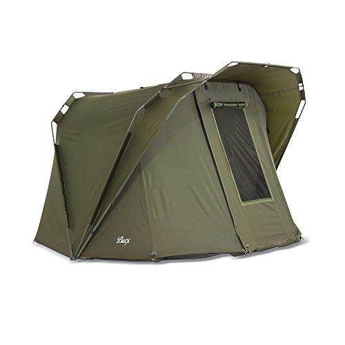 Lucx® Coon Karpfenzelt 2 Personen Angelzelt Bivvy Zelt 1 bis 2 Mann Carp Dome 10.000mm