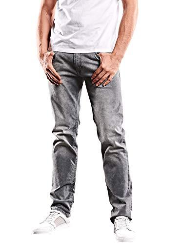 emilio adani Herren Jeans Basic Classic, 31714, Grau in Größe 30/32