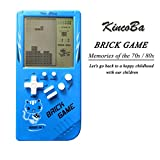 KINCOBA Brick Handheld Game Machine Retro Game with 23 Classic Brick Games 3.5 inch Screen Portable Game Controller Good Toys for Kids(Blue)