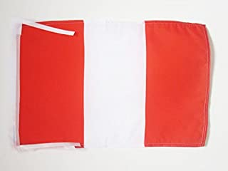 PERU WITHOUT ARMS FLAG 45.72 cm x 30.48 cm 电线 - PERUAN CIVIL 小号扁平 30 x 45cm - 横幅 18x12 英寸 - AZ FLAG