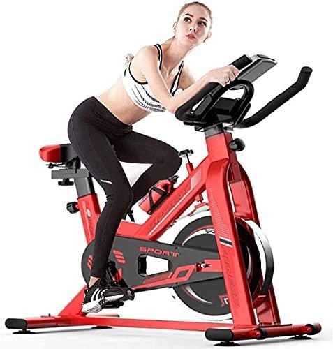 Ejercicio Bicicletas Spinning Bicycle Estacionario Casa Mujer Ciclismo Deportes Deportes Ciclismo Interior Bicicleta Gimnasio Entrenamiento Bicicleta Pérdida de Peso Fitness Equipos-Rojo