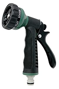 Aqua Control C2079 Pistola 7 Formas riego, Verde Negro, 21x14x4 cm