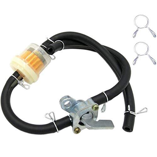 ZAMDOE Válvula de llave de purga universal Interruptor de gasolina Filtro de combustible Línea de manguera de gasolina para 50 70 90110125 150cc ATV, pieza de repuesto de motor de generador de gas