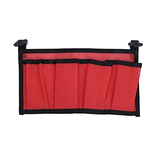 freneci Pratico Kayak 4 Tasche Mesh Storage Pouch Sleeve Gear Birra Portabottiglie Borsa Organizer Accessorio Rosso