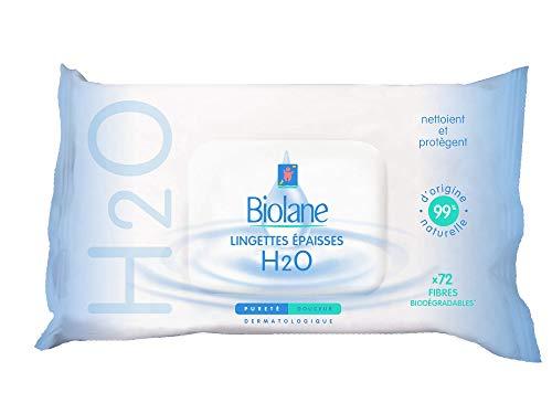 Biolane 72 Lingettes Epaisses H2O