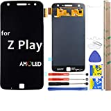 for Moto Z Play LCD Screen Replacement Touch Digitizer Display 5.5' for Motorola Z Play Droid XT1635 / XT1635-01 / XT1635-02 (Black)