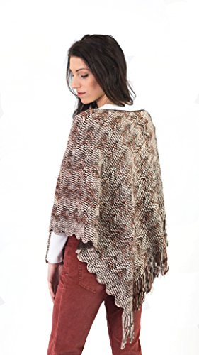 Missoni Knitted Poncho, Sienna, One Size