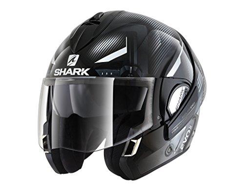 Shark Casco Moto Hark Evoline 3 Shazer, Nero/Bianco, M
