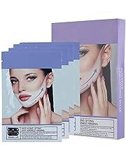 V-gezichtsvormend masker, 4 stuks 35 g V-lijn kin-up hydraterend verstevigend gezichtsmasker voor verbetering van de gezichtscontour, V-line-up liftriem voor het verminderen van dubbele kin
