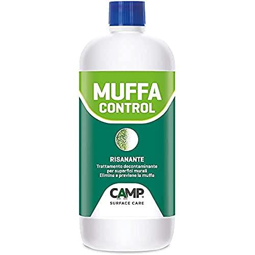 Camp MUFFA CONTROL RISANANTE, Soluzione risanante murale professionale, Elimina e previene la muffa, Per interni ed esterni, 1 L